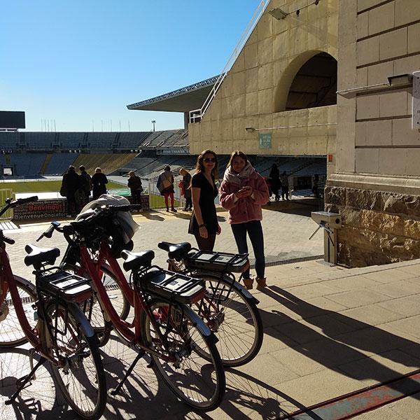 Bike tour in Montjuic Olympic Stadium